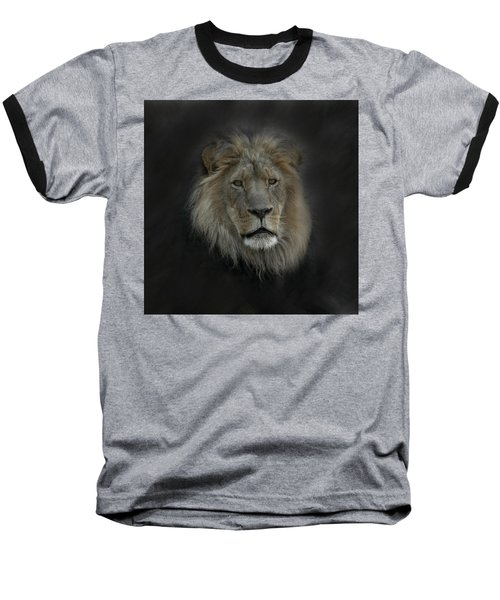 King Of Beasts Portrait Baseball T-Shirt