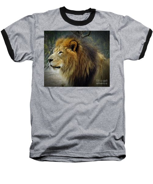 King Of The Jungle Baseball T-Shirt by Sara  Raber