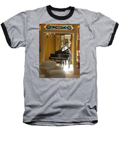 Kings Piano Baseball T-Shirt by Jewels Blake Hamrick