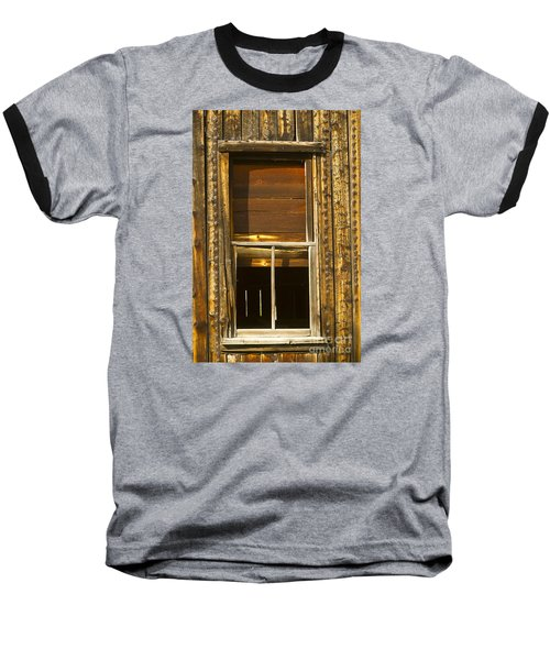 Baseball T-Shirt featuring the photograph Kirwin Window-signed-#0223 by J L Woody Wooden