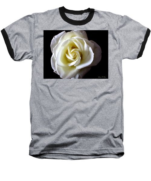 Baseball T-Shirt featuring the photograph Kiss Of A Rose by Shana Rowe Jackson