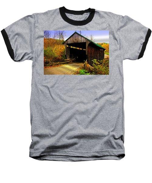 Baseball T-Shirt featuring the photograph Kissing Bridge by Bill Howard