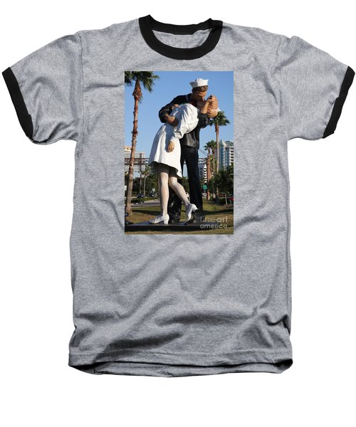Baseball T-Shirt featuring the photograph Kissing Sailor - The Kiss - Sarasota by Christiane Schulze Art And Photography
