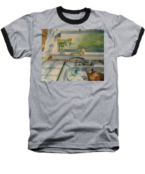 Kitchen Sink Baseball T-Shirt by Joy Nichols