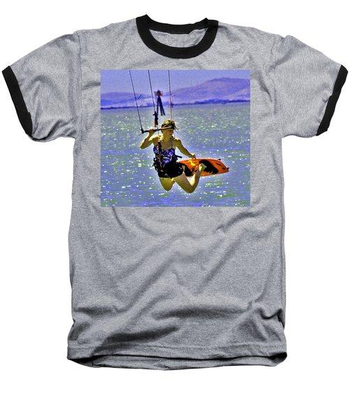 A Kite Board Hoot Baseball T-Shirt