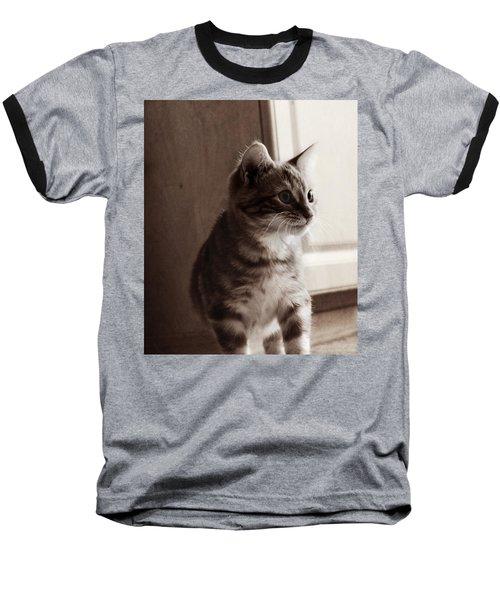 Kitten In The Light Baseball T-Shirt