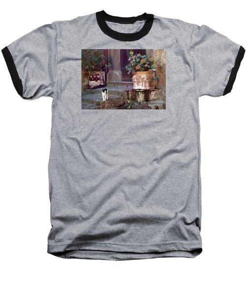 Kitten Italiano Baseball T-Shirt by Barbie Corbett-Newmin