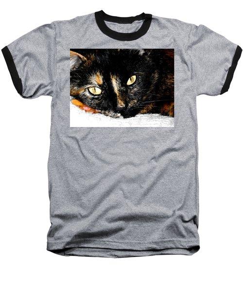 Kitty Face Baseball T-Shirt
