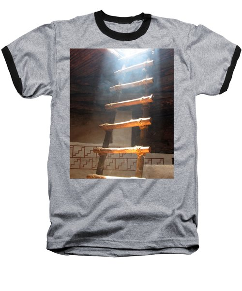Baseball T-Shirt featuring the photograph Kiva Ladder by Marcia Socolik
