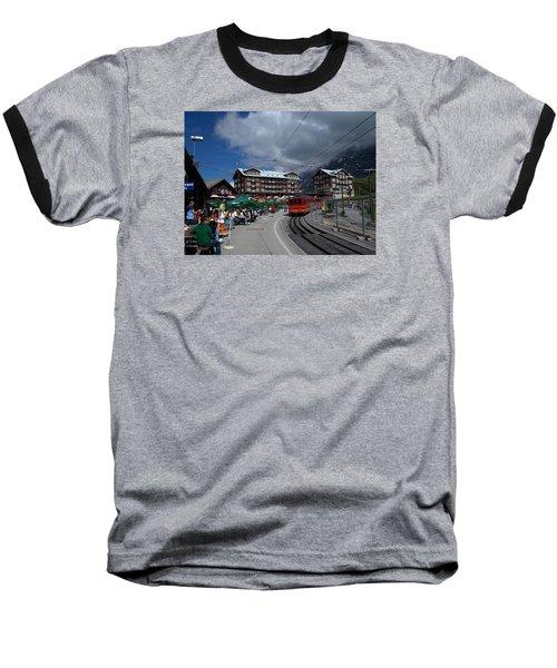 Kleine Schedegg Switzerland Baseball T-Shirt