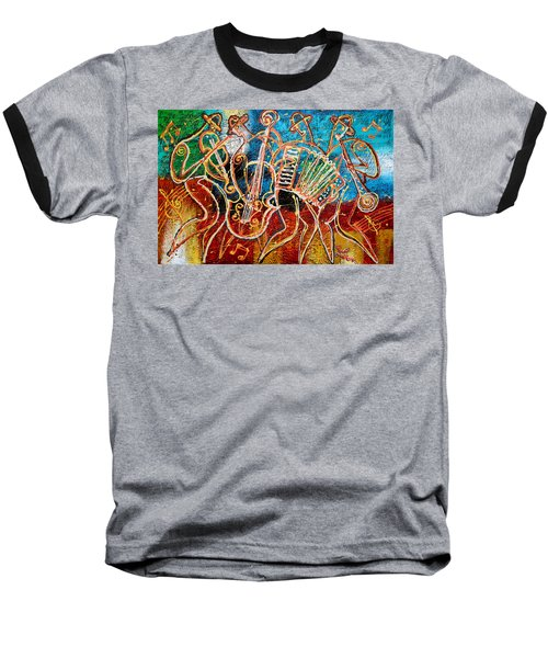 Klezmer Music Band Baseball T-Shirt by Leon Zernitsky