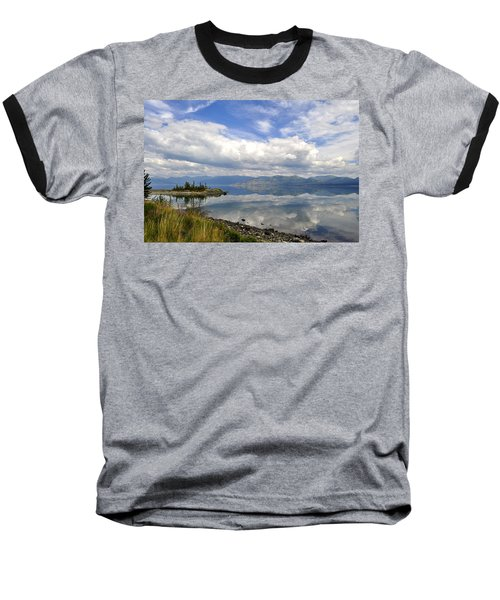 Baseball T-Shirt featuring the photograph Kluane Reflections by Cathy Mahnke