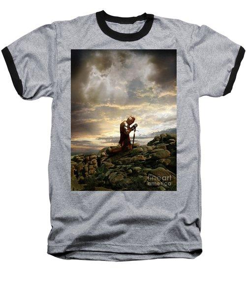 Kneeling Knight Baseball T-Shirt