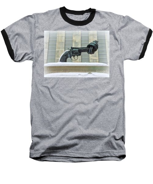 Knotted Gun Sculpture At The United Nations Baseball T-Shirt