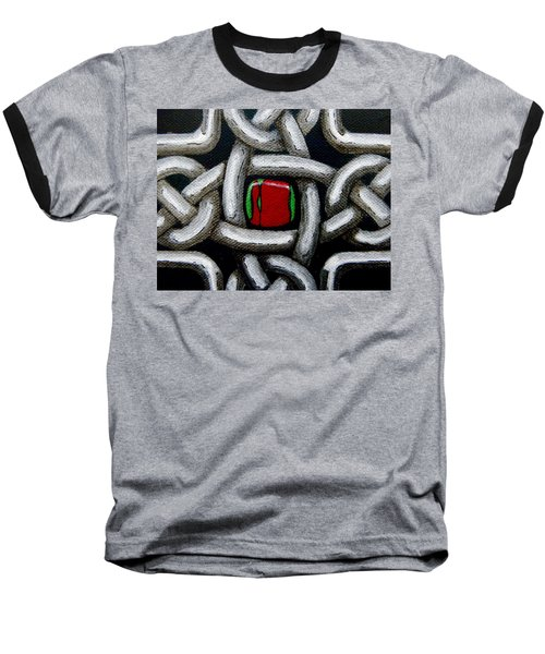 Knotwork With Gem Baseball T-Shirt