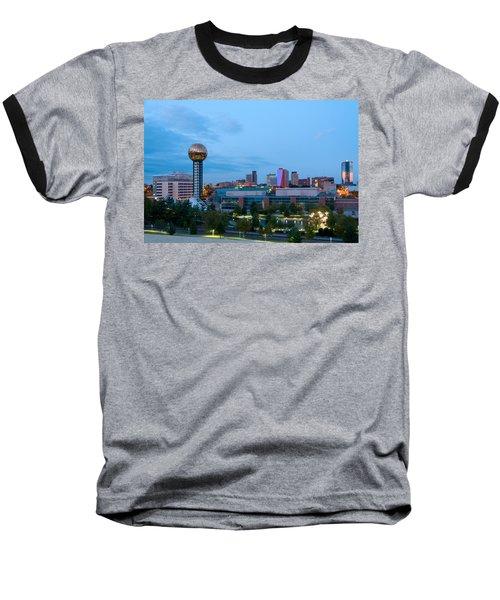 Knoxville At Dusk Baseball T-Shirt