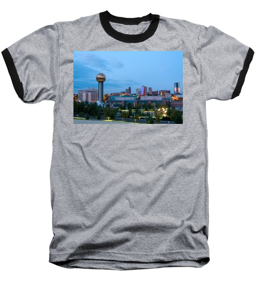 Knoxville At Dusk Baseball T-Shirt by Melinda Fawver