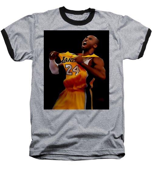 Kobe Bryant Sweet Victory Baseball T-Shirt by Brian Reaves