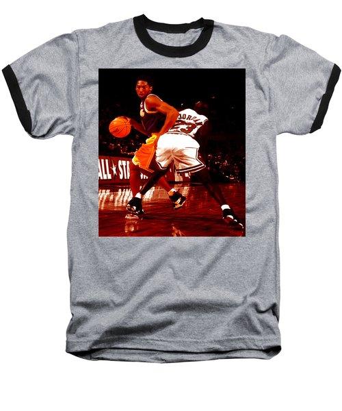 Kobe Spin Move Baseball T-Shirt by Brian Reaves