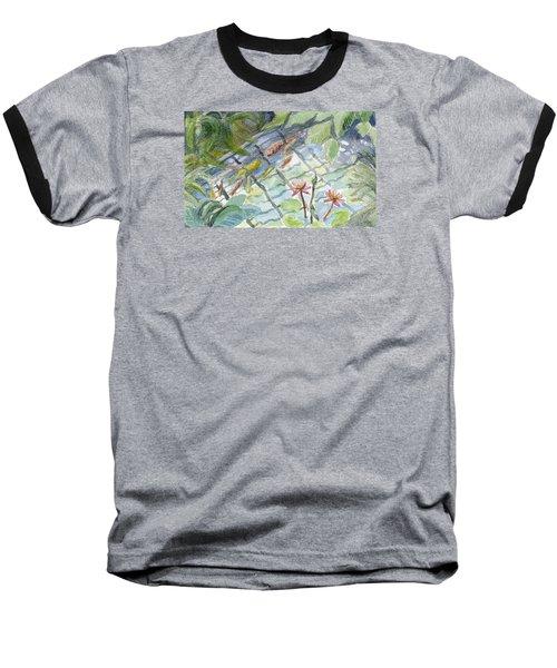 Koi Carp And Waterlilies. Baseball T-Shirt