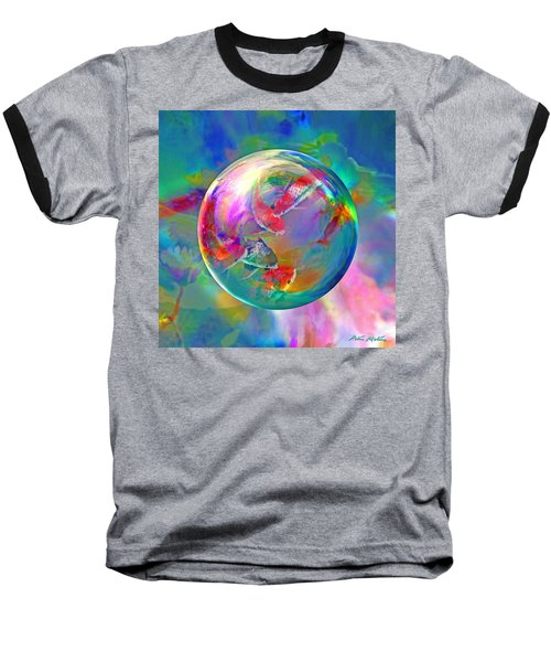 Koi Pond In The Round Baseball T-Shirt by Robin Moline