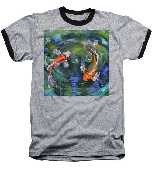 Koi Swirl Baseball T-Shirt