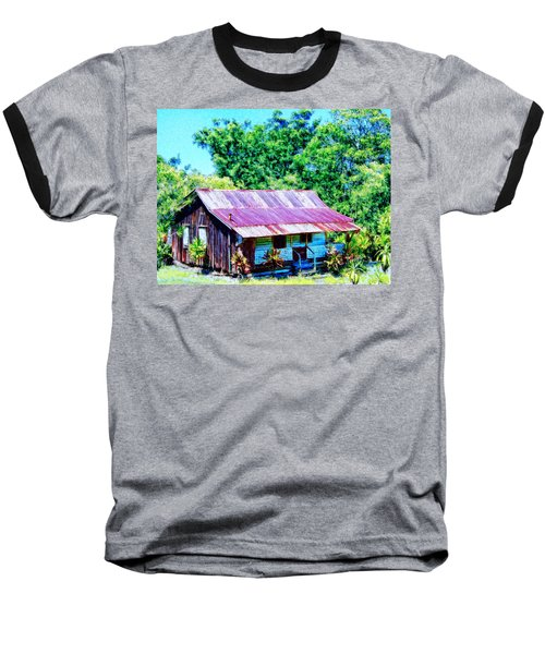 Kona Coffee Shack Baseball T-Shirt by Dominic Piperata
