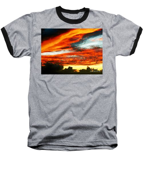 Baseball T-Shirt featuring the photograph Kona Sunset 77 Lava In The Sky  by David Lawson