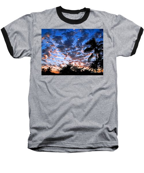 Baseball T-Shirt featuring the photograph Kona Sunset by David Lawson