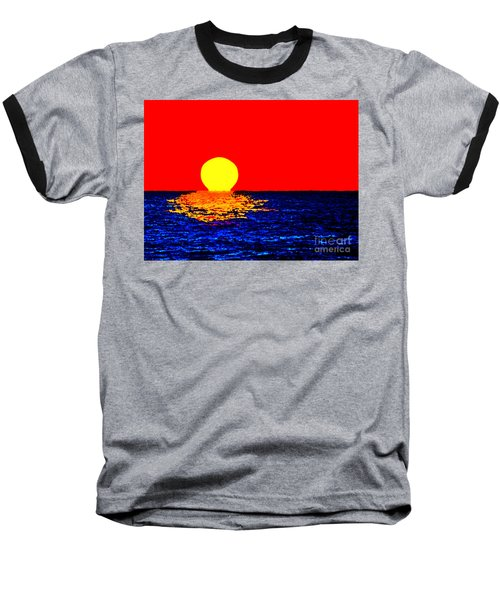 Kona Sunset Pop Art Baseball T-Shirt