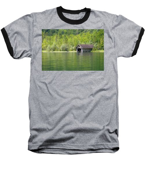 Konigsee Boathouse Baseball T-Shirt by Jeremy Voisey