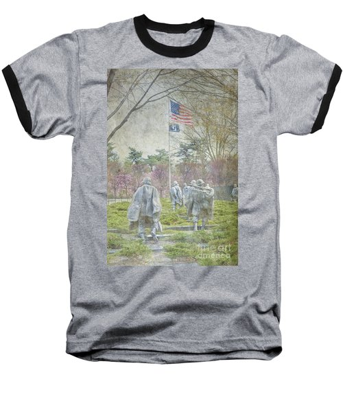 Korean War Veterans Memorial Washington Dc Beautiful Unique   Baseball T-Shirt