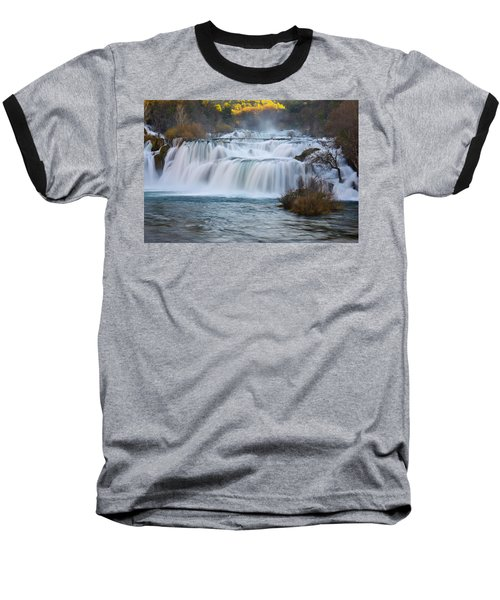 Krka Waterfalls Baseball T-Shirt