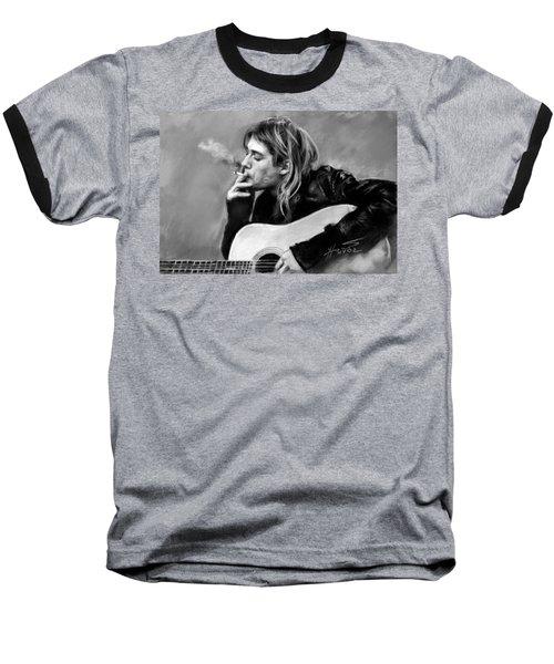Kurt Cobain Guitar  Baseball T-Shirt