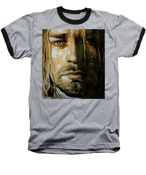 Baseball T-Shirt featuring the painting Kurt Cobain by Laur Iduc