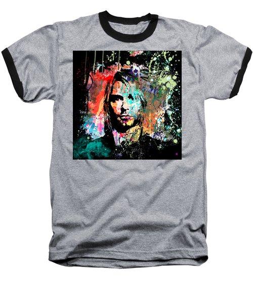 Kurt Cobain Portrait Baseball T-Shirt