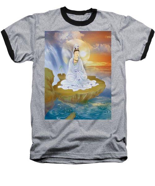 Kwan Yin - Goddess Of Compassion Baseball T-Shirt by Lanjee Chee