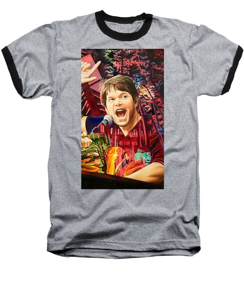 Baseball T-Shirt featuring the painting Kyle Hollingsworth At Hornin'gs Hideout by Joshua Morton