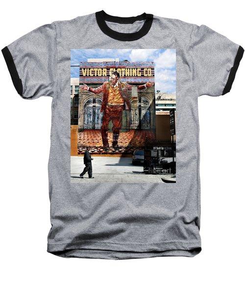 Baseball T-Shirt featuring the photograph L A  City Beat by Jennie Breeze
