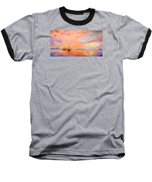Baseball T-Shirt featuring the painting La Florida by AnnaJo Vahle