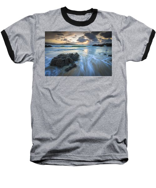 Baseball T-Shirt featuring the photograph La Fragata Beach Galicia Spain by Pablo Avanzini