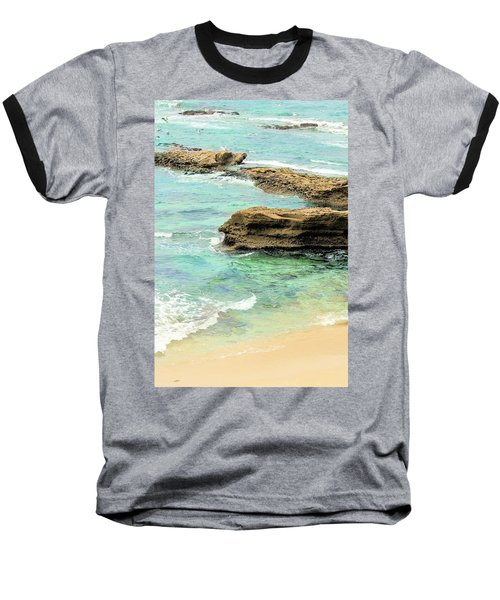 La Jolla Beach Rocks Baseball T-Shirt