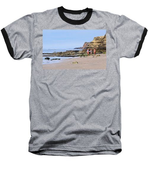 La Jolla Beach Walk Baseball T-Shirt