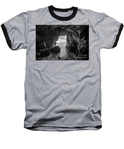 La Jolla Cave Bw Baseball T-Shirt