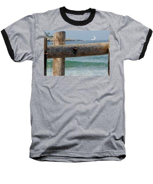 La Jolla Scene Baseball T-Shirt by Susan Garren