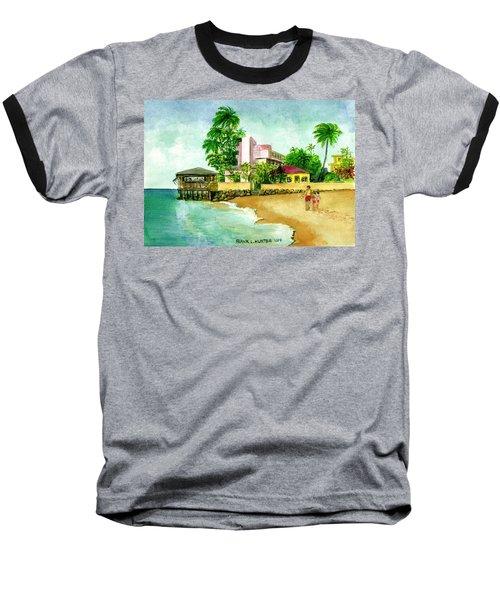La Playa Hotel Isla Verde Puerto Rico Baseball T-Shirt by Frank Hunter