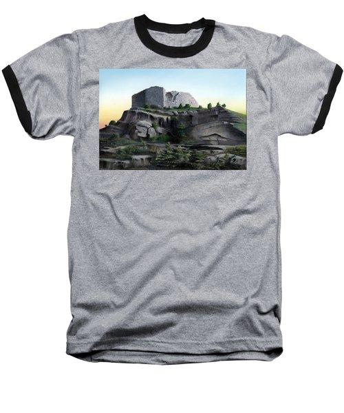 La Rocca De Monte Calvo Baseball T-Shirt by Albert Puskaric
