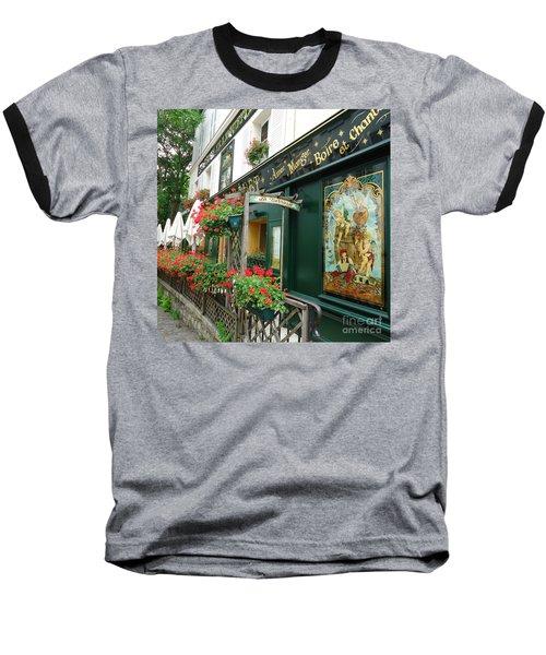La Terrasse In Montmartre Baseball T-Shirt by Barbie Corbett-Newmin