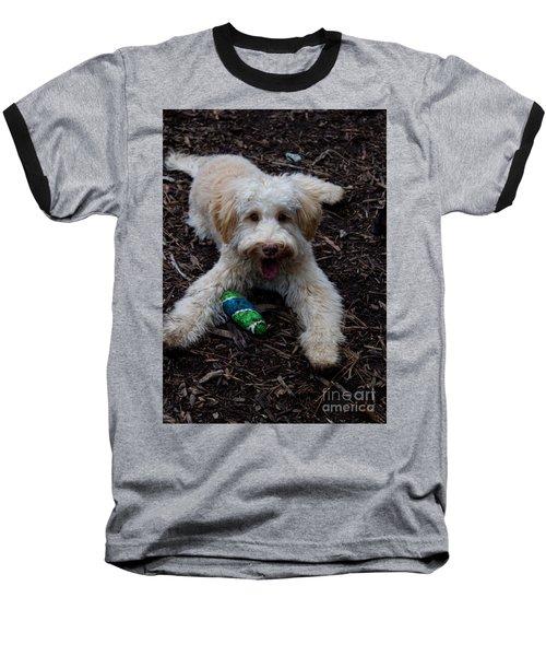 Labradoodle At Play Baseball T-Shirt