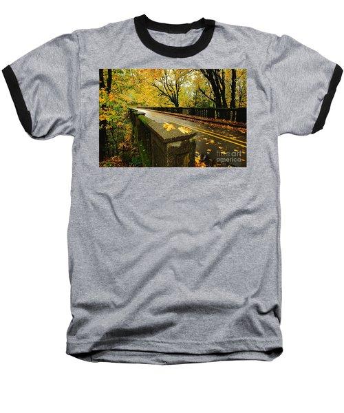 Leaves Of Gold Baseball T-Shirt